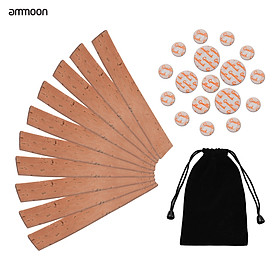 ammoon Clarinet Neck Joint Cork and Pad Set 10 Piece of Clarinet Neck Joint Cork 17 Piece Clarinet Pads for Bb Clarinet