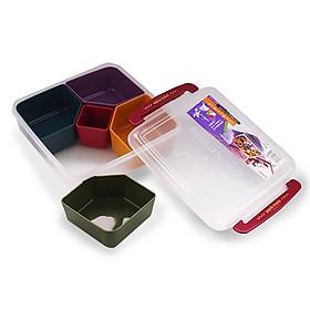 Hộp nhựa đựng thực phẩm cao cấp 5 ngăn Inomata Nhật Bản