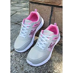 Giày Sneaker Thể Thao Nữ Yamet TT5-255 - Xám Phối Hồng