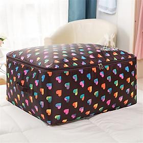 Túi đựng quần áo chăn màn size Lớn 60x50x28cm, 2 lớp vải dù, chống ẩm, khóa kéo quai sách chắc chắn