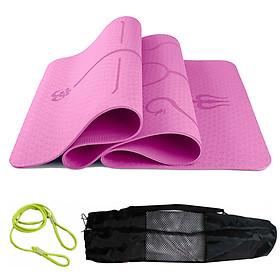 Thảm Tập Yoga Định Tuyến miDoctor + Túi Đựng Thảm Tập Yoga Định Tuyến + Dây Buộc Thảm Tập Yoga Định Tuyến (Túi, Dây Giao Màu Ngẫu Nhiên)