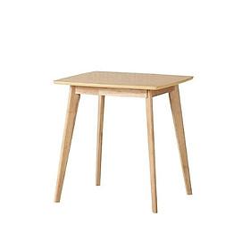 Bàn ăn vuông gỗ cao su 60x60x75 cm
