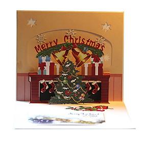 Thiệp Chúc Mừng Giáng Sinh 3D Hình Cái Chuông