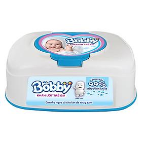 Khăn Ướt Bobby Hộp Tiện Lợi (80 Miếng)-0
