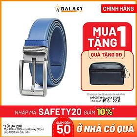 Dây Nịt Thắt Lưng Nam Da Bò Thật Cao Cấp 2 Lớp Galaxy Store GDNN07