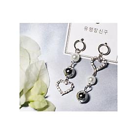 Hình đại diện sản phẩm Bông tai Hàn Quốc - Hoa tai đẹp sang chảnh - Khuyên tai đi dự tiệc, đám cưới, sinh nhật xinh xắn - Mẫu 34