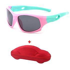 Mắt kính trẻ em _ Kính mát cho bé chỗng gãy cao cấp ( tặng kèm hộp đựng mắt kính hình ô tô )