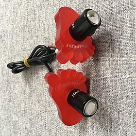 Bộ Đèn Led Xi Nhan hình bàn chân Siêu Sáng Đẹp cho nhiều dòng xe máy (màu đỏ)