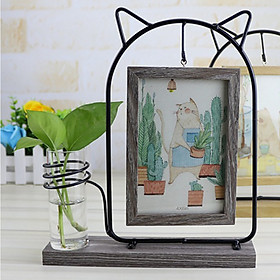Home Decoration Photo Frame with Hydroponic Hanging 6 Inch Double-Sided Photo Frame Practical Table Crafts Ornaments