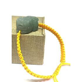 Hình đại diện sản phẩm Vòng Tay Tỳ Hưu Cẩm Thạch Thắt Dây Mệnh Kim - Vàng KATEDA
