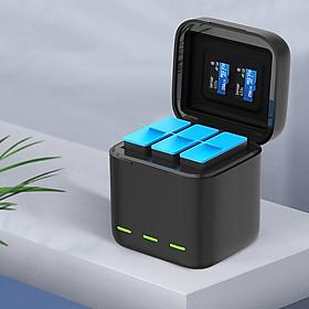 Dock Sạc 3 Pin Cho GoPro 9 - Bộ Sạc Máy Quay GoPro Hero 9 Có Nắp Đậy (Hàng Chính Hãng)