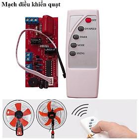 Bộ mạch điều khiển quạt từ xa mạch xịn có cầu chì chống quá tải điều khiển bản quốc t