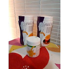 Combo 2 hộp Sữa hỗ trợ giảm cân HERA SLIMFIT 500gr- TẶNG HỘP Sữa Nghệ 100G-EO ĐẸP - DÁNG THON-Thay thế hoàn toàn bữa ăn - Hỗ trợ Giảm cân an toàn