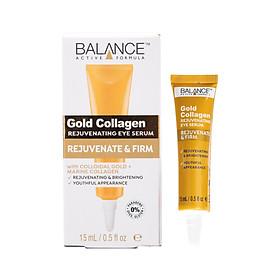 Serum Mắt Gold Collagen Balance Active Formula tái tạo, làm sáng vùng da mắt, giảm vết chân chim 15ml, hàng chính hãng