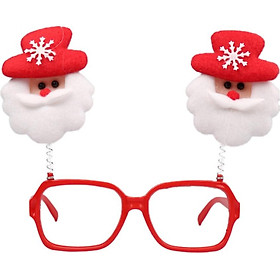 Cute Christmas Glasses Frame Funny Decorative Novelty Christmas Costume Decorations Gifts Santa Reindeer For Children And Adults