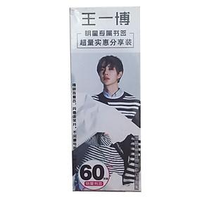 Bookmark Vương Nhất Bác hộp bookmark 60 ảnh phim Trần Tình Lệnh Tiêu Chiến Nhất Bác tặng ảnh thiết kế Blue Vcone