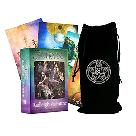 Combo Bộ Bài Bói Tarot Fairy Tarot Cards Cao Cấp và Túi Nhung Đựng Tarot