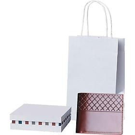 Ví , bóp da nam cao cấp có hộp và túi làm quà tặng