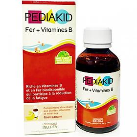 Siro bổ máu Pediakid Fer + Vitamines B cho bé, bổ sung sắt, vitamin nhóm B (125ml)