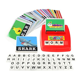 Matching Letter Game Alphabet Word Spelling Reading Pattern Recognition with 52pcs Capital Letter Blocks 60pcs Word
