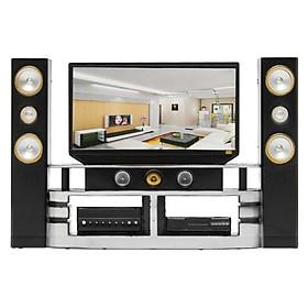 Bộ tivi nội thất màu đen dành cho búp bê