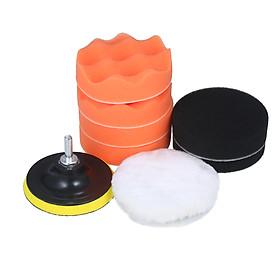 10pcs Polishing Pad Kit 4-inch Foam Buffing Pads with Waffle Foam Wool Pad Backing Plate for Angle Grinder Buffer