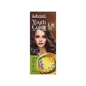 Kem nhuộm màu tóc cao cấp Lavox Youth&Color L22 (Xám khói)