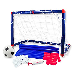 Kids Soccer Goal Set with Net Ball and Pump for Indoor Outdoor Backyard Sport Game
