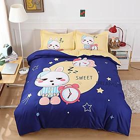 Bộ Drap & Chăn Phao Cotton Magic Thỏ Buồn Ngủ