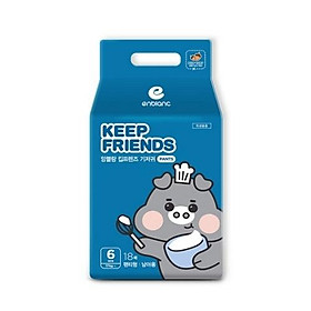 Tã quần nội địa Hàn Quốc Enblanc Keep Friend size 6 bé trai (XXL 18 miếng)