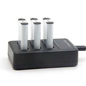 Bộ Sạc 3 Pin Cho Sony NP-BX1 - Bộ Sạc Máy Ảnh, Máy Quay Phim Cho Sony BX1 (Hàng nhập khẩu)