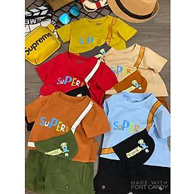 Combo 5 Bộ quần áo trẻ em | quần áo bé trai | mẫu Supere cool cao cấp | cho bé từ 8kg đến 22kg | vải cotton 100% mềm mại co giản 4 chiều