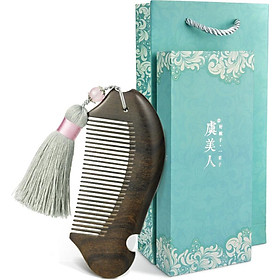 Yu Mei Man comb comb water yellow poplar comb with Sui Su Yan gift box Valentine Day gift