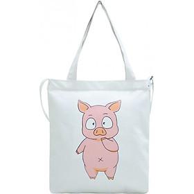 Túi Vải Đeo Chéo Tote Bag Họa Tiết Pig XinhStore