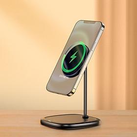 Đế giữ điện thoại tích hợp sạc nhanh không dây Baseus Swan Magnetic Desktop Bracket Wireless Charger cho iPhone 12 series -Hàng Chính Hãng