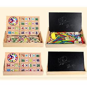 Đồ chơi trí tuệ - Hộp 100 que tính kèm bảng viết và số giúp bé học toán giỏi BK126