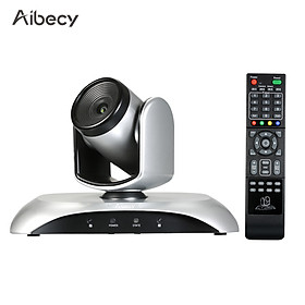 Aibecy 1080P HD Video Conference Camera Fixed Focus Wide Angle Webcam Supported H.264 Hard Compression 355° Rotation