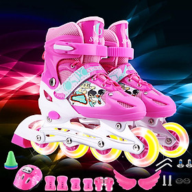 Giày Patin thể thao trẻ em - màu hồng