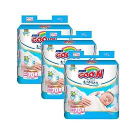 Combo 3 bịch Tã Dán Goo.n Premium Gói Cực Đại Newborn NB70 (70 Miếng)