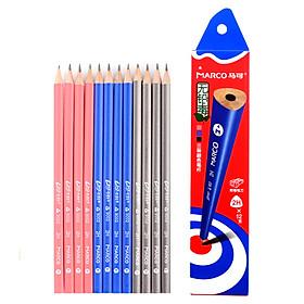 Marco (Marco) 9002-2H-12CB writing pencil colorful triangular pen (2H) 12 box