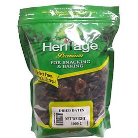 Quả chà là khô không hạt nguyên liệu trung đông, sản phẩm của tập đoàn Heritage Thái Lan gói 1kg - Dried Date