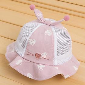 Nón lưới mặt mèo cho bé 6 đến 24 tháng_Mã 14