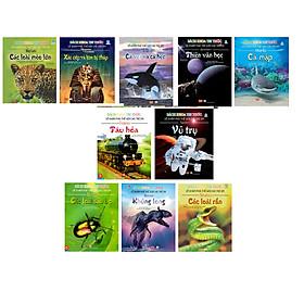 Cuốn sách kích thích sự tìm tòi khám phá của trẻ:  Combo 10 Quyển Bách Khoa Toàn Thư Về Khám Phá Thế Giới Cho Trẻ Em