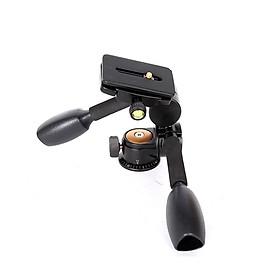 Đầu dầu tripod đa hướng Beike Q-80 cho chân máy ảnh - hàng nhập khẩu