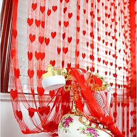 Rèm Cửa Romantic Heart Pattern
