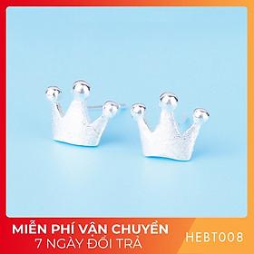 Bông hoa tai nữ bạc s925 cao cấp HEBT008 BH trọn đời