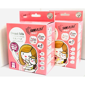 Combo 2 hộp túi trữ sữa Sunmum Thái Lan