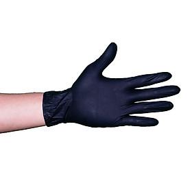 Găng tay y tế không bột màu đen 3.5gr size M