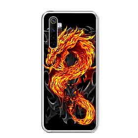 Ốp lưng dẻo cho điện thoại REALME 6 - 0218 FIREDRAGON - Hàng Chính Hãng
