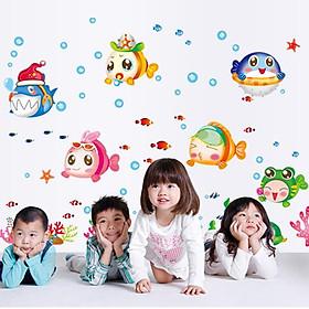 Decal dán tường thế giới cá cho bé 02 AY1753